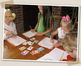 Children playing Pick and Draw